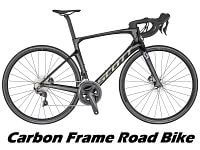 A Road Bike with a Carbon Fibre Frame and Forks