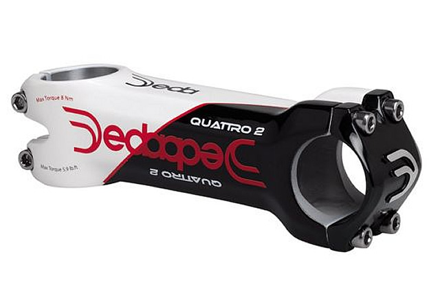 New Dedacciai ZERO1 Road Bike Stem 31.7mm x 90mm White