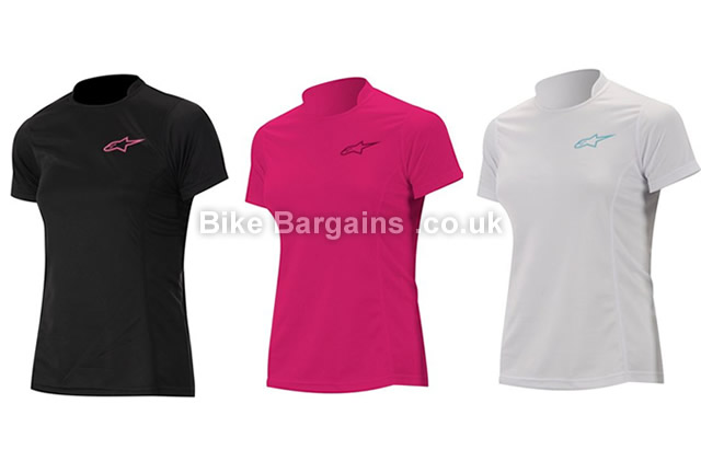 Alpinestars Stella Krypton Ladies Short Sleeve Jersey XS,M,L,XL, Black, Pink, White