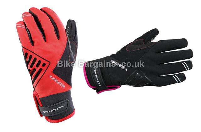Altura Ladies ProGel Waterproof Full Finger Gloves 2014 L, Red, Full Finger, Velcro