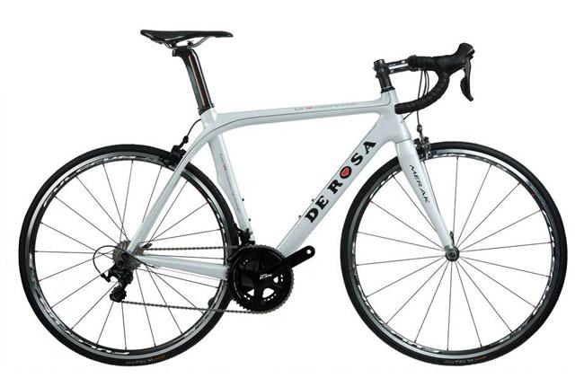 De Rosa Merak 5800 Road Bike 2014 53cm, White, Carbon, Calipers, 11 speed, 700c