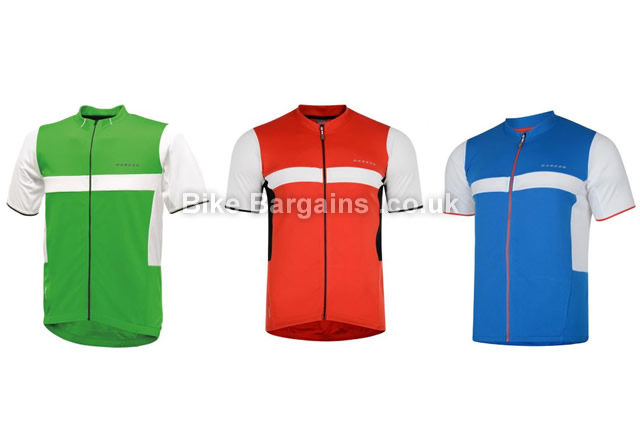 Dare 2b Impel Short Sleeve Cycling Jersey XS, Red, Green