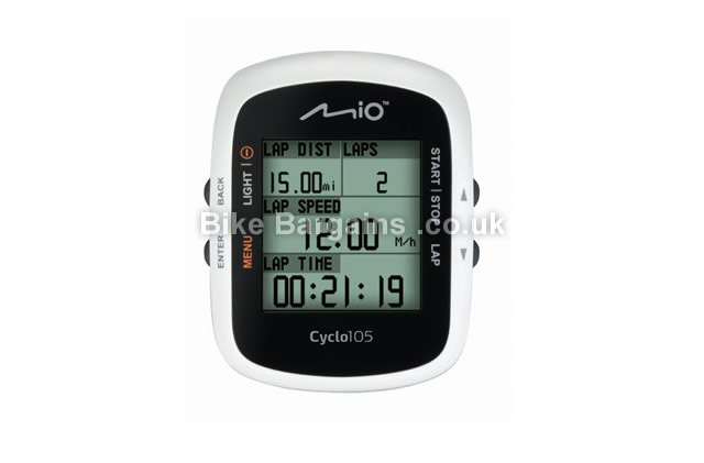 Mio Cyclo 105H GPS Cycling Computer With HRM White