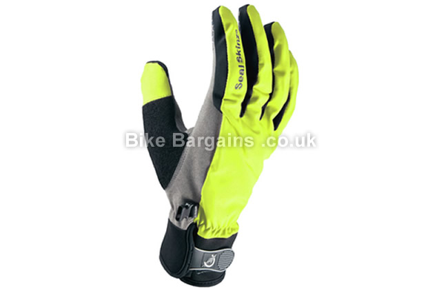 SealSkinz Ladies All Weather Cycle Gloves Black, Yellow, L,XL