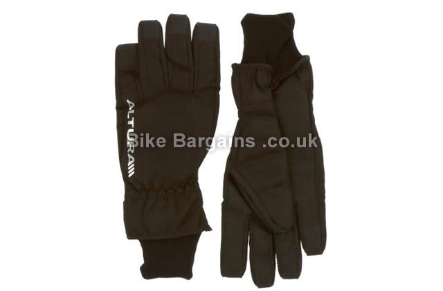Altura Nevis Waterproof Full Finger Gloves 2016 S, Black, Full Finger, Nylon, Polyester, Synthetic Leather