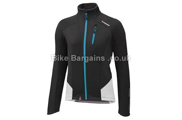 Shimano Performance Windbreaker Ladies Jacket L, Black, Pink, Women's, Long Sleeve