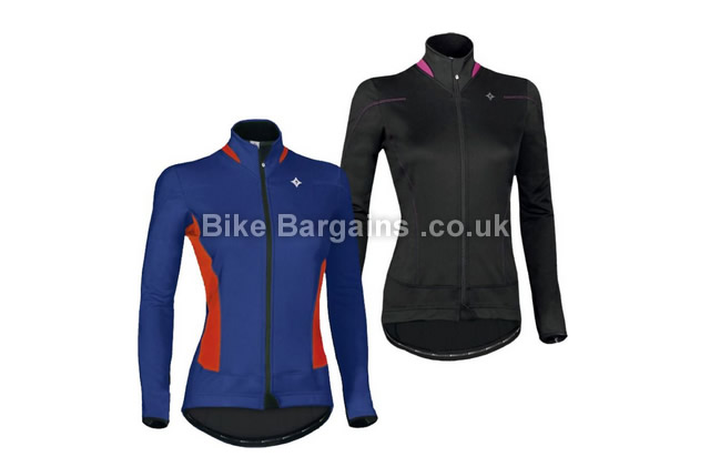 Specialized RBX Sport Winter Partial Ladies Jacket 2015 S, Blue, Red, Women's, Long Sleeve