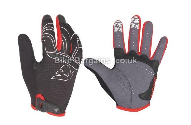 Bluegrass Lynx Full Finger Gloves XS,S,M,XL, Black, Grey, Red, Full Finger, Velcro