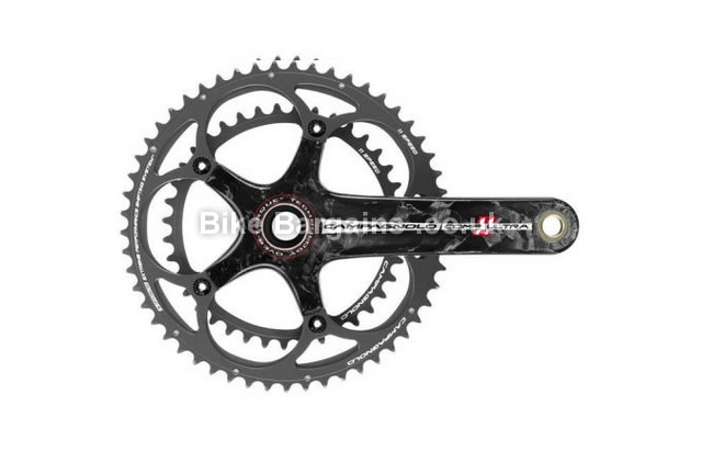Campagnolo Comp Ultra Over Torque Road 11 Speed Chainset 175mm, Black, Carbon, 11 speed, Double Chainring, Road, 563g