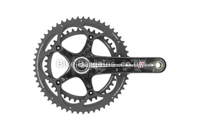 Campagnolo Record Ultra Torque Carbon Road 11 Speed Chainset 177.5mm, Black, Carbon, 11 speed, Double Chainring, Road, 651g