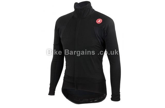 Castelli Alpha Wind FZ Long Sleeve Jersey L, White, Black