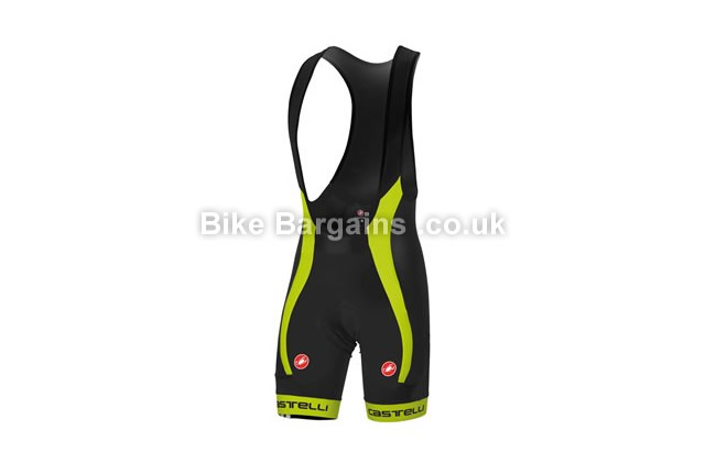 Castelli Velocissimo Due Black Cycling Bib Shorts red, S