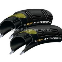 Continental GP Force II GP Attack II Folding Road Tyres with Inner Tubes