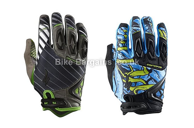 Specialized Enduro Long Finger Cycling Gloves 2017 XXL, Black, Green, Blue