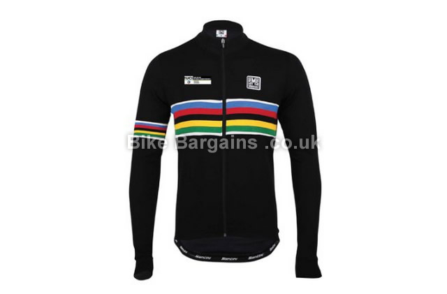 872e3331 Santini UCI Rainbow Long Sleeve Jersey was sold for £25! (XS, Black)