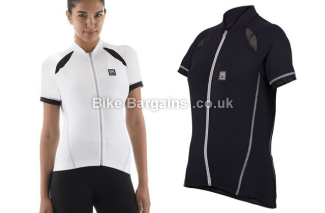 Santini Charm Ladies Short Sleeve Jersey M,L,XL,XXL,XXXL, White, Black