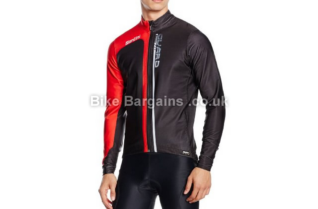 Santini Guard Cycling Jacket L, white, black