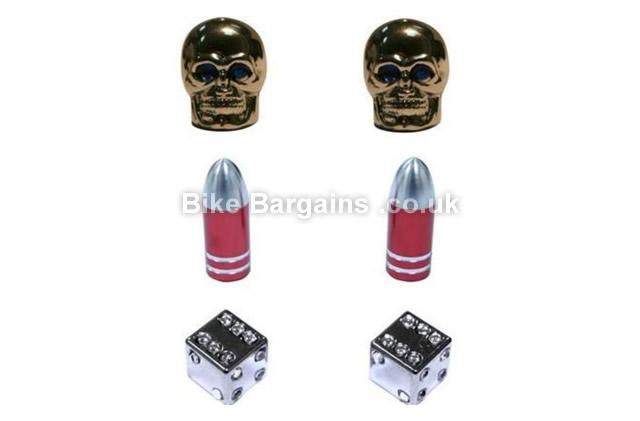Schrader Valve Caps Skulls Bullets Dice skulls, bullets or dice