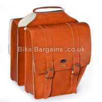 Selle Monte Grappa Borsa Cruiser Leatherette Honey Pair Pannier Bags