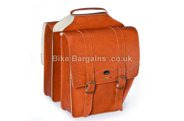 Selle Monte Grappa Borsa Cruiser Leatherette Honey Pair Pannier Bags honey