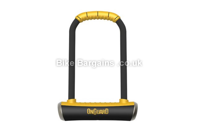 OnGuard Brute Shackle Gold Sold Secure Rating U-Lock Black, Yellow, 260mm