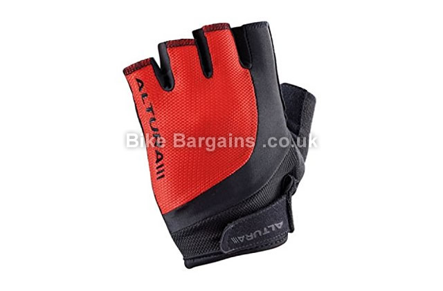 Altura Gravity Red Short Finger Cycling Gloves S, red