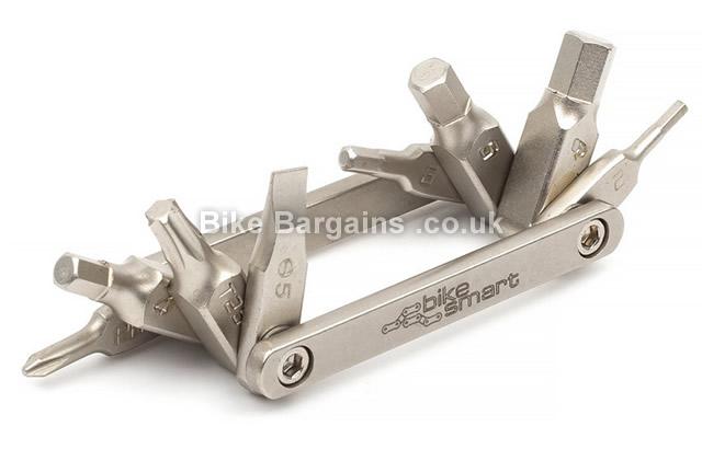 Bike Smart Micro Tool 8 Functions Allen Keys silver