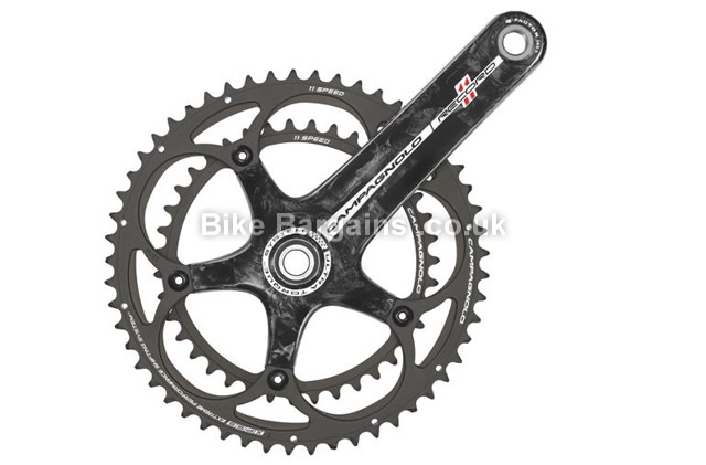 Campagnolo Record Carbon Black Double 11 speed Road Chainset 170mm, 175mm