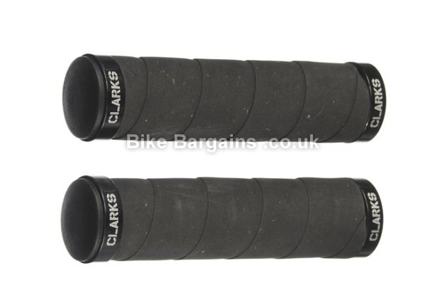 Clarks Bartape Effect Lock On MTB Grips black, carbon, white