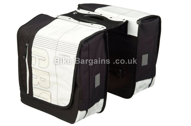 Cordo CRD Quick Lock Carrier White Medium 19L Double Pannier Bag white, 19 litres