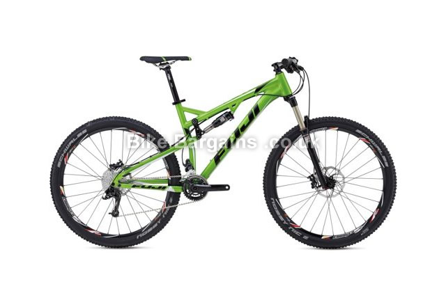 "Fuji Reveal 29 inch 1.1 Full Suspension Mountain Bike 2014 15"", green"