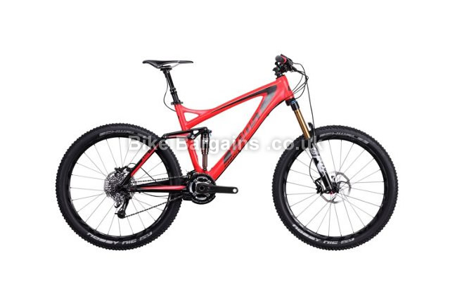 "Ghost AMR Plus Lector 9000 Carbon Full Suspension Bike 2014 26"", 19"", red"