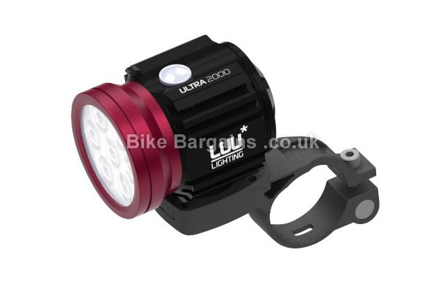 Luu Ultra 2000 Lumens Black Red Front Cycle Light 200g, 2000 Lumens