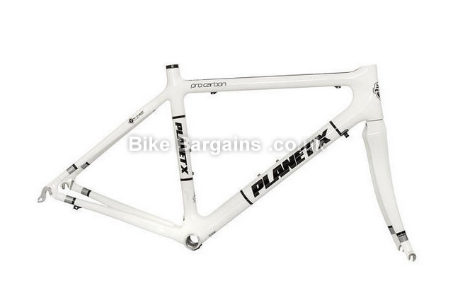 Planet X Pro Full Carbon White Road Frameset and Forks M,L, white
