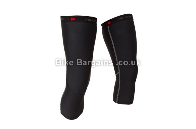 Polaris Venom Black Cycling Knee Warmers S,M,L,XL, black