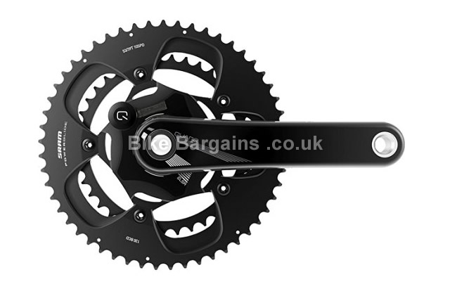 Quarq Elsa 10 or 11 Speed Power Meter BCD 175mm Crankset 175mm, black