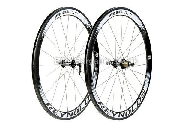 Reynolds Assault Tubular Campag 700c Road Wheelset 700c, campag, black