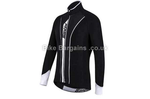 Santini 365 Vega Aqua Zero Thermofleece Cycle Jersey black, XXL