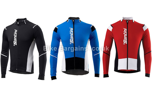 Santini Air Windstopper Long Sleeve Jersey S,M, black, blue, red