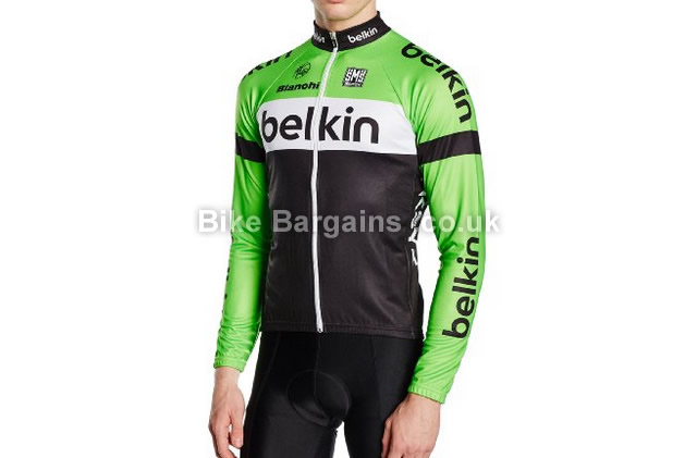 Santini Team Belkin Thermofleece Long Sleeve Replica Jersey S