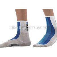 Santini Carb Summer Medium Profile Royal Blue Cycling Socks