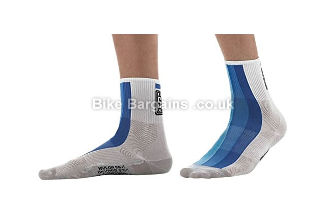 Santini Carb Summer Medium Profile Royal Blue Cycling Socks XS,S,Blue