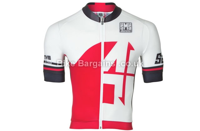 Santini Fs 947 75 Short Sleeve Race Cycle Jersey red, L