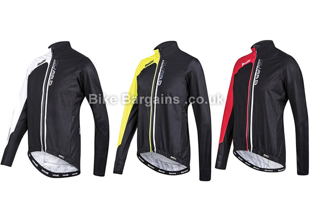Santini Guard 2.0 Waterproof Hydrophilic Windbreaker Cycling Jacket M,L,XL, white, yellow, red