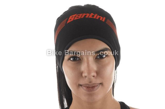 Santini Knitted Krios Winter Black Cycling Headband black
