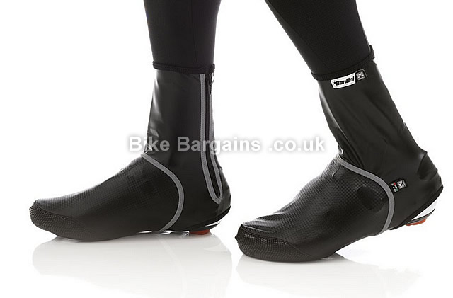 Santini Krios Winter Aero Black Windproof Water Resistant Cycling Overshoes L