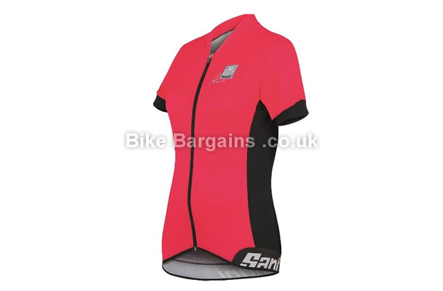 Santini Ladies Aero Road Short Sleeve Cycling Jersey S,M,L, pink, Turquoise
