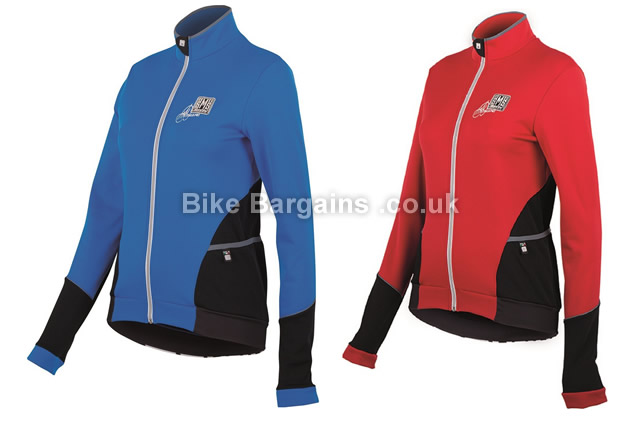 Santini Mearesy Ladies Thermofleece Long Sleeve Cycling Jersey S,M,L,XL,XXL,blue, red