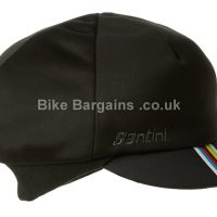 Santini UCI Black World Champion Rainbow Cycling Winter Hat