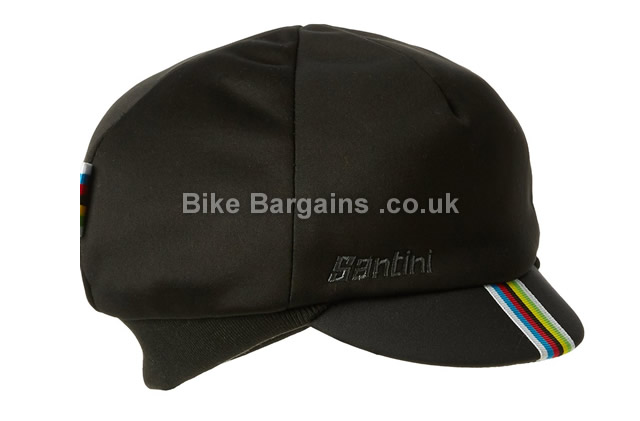 86e6823a Santini UCI Black World Champion Rainbow Cycling Winter Hat was sold ...